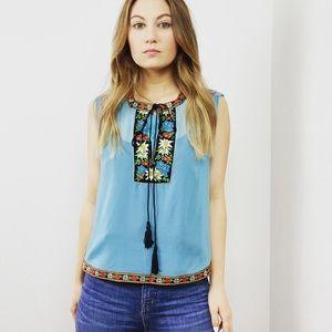 Dolce & Gabbana Embroidered Boho Sleeveless Top